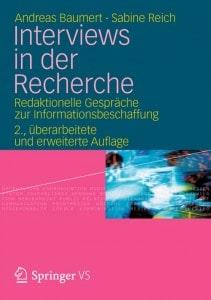 Rechercheinterviews mit Andreas Baumert und Sabine Reich