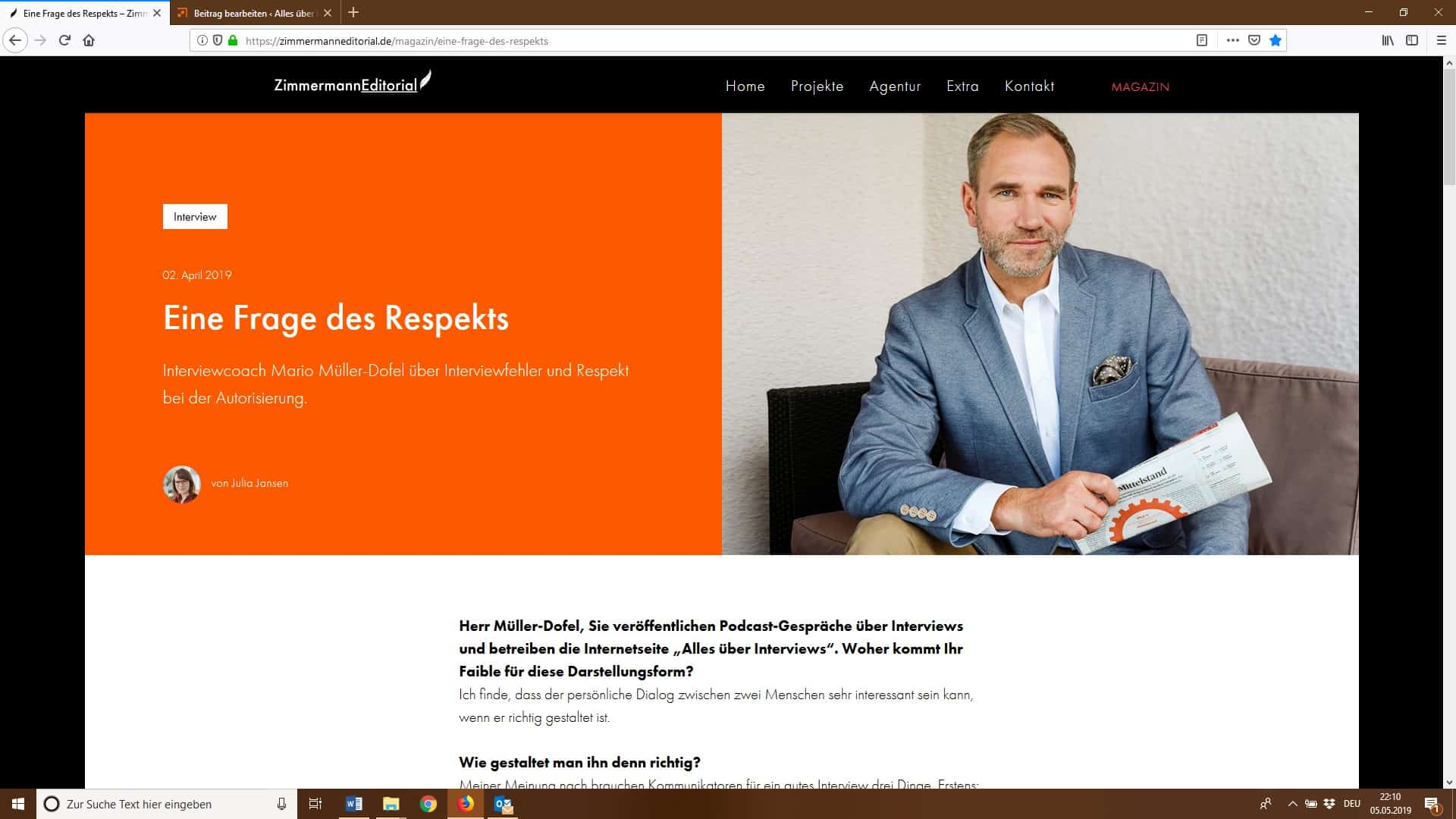Mini-Interview-Meldung - Müller-Dofel